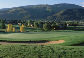 Pristine golf course in Vail
