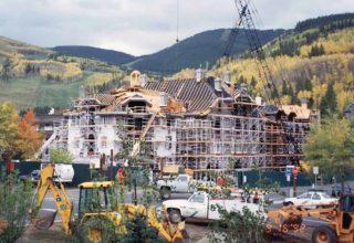 Sonnenalp Hotel under construction