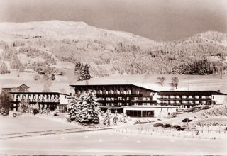 Historic photo of Sonnenalp Hotel in 1956