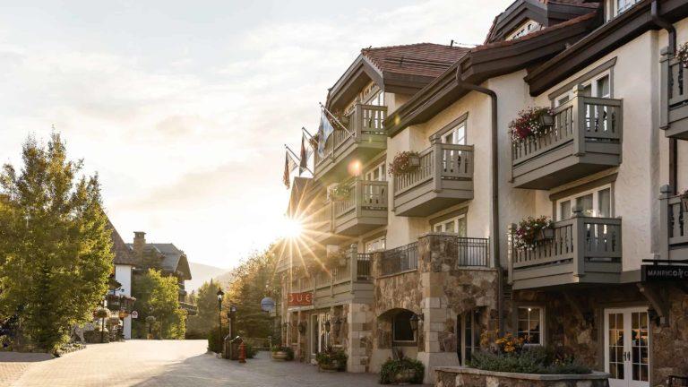 Sonnenalp Hotel facade with balconies