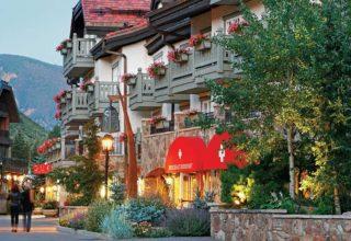 Sonnenalp Hotel facade and street