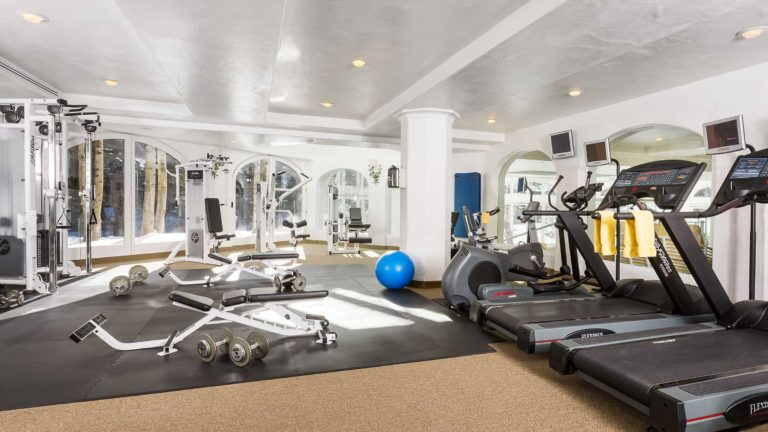 gym with excercise machines