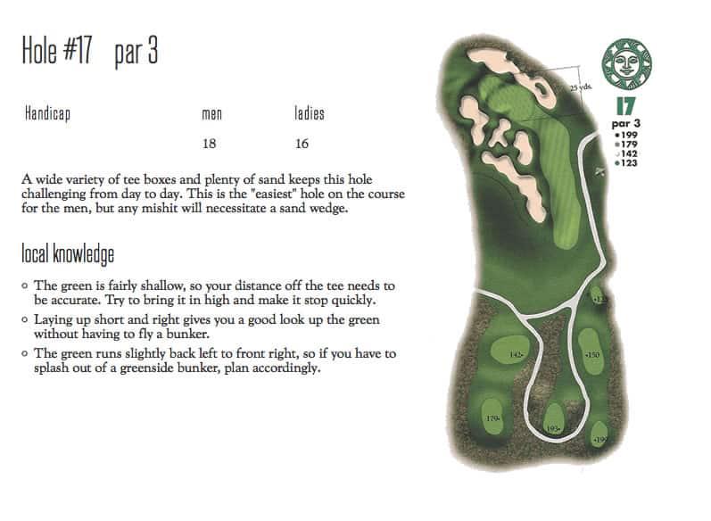 Hole 17 Diagram for Sonnenalp