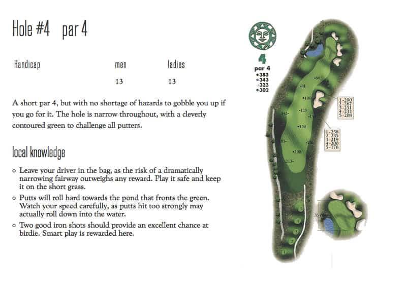 Hole 4 Diagram for Sonnenalp