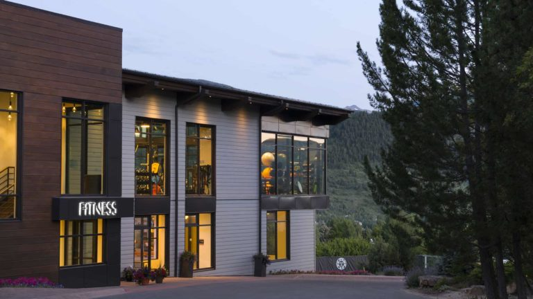 Exterior of Sonnenalp fitness gym