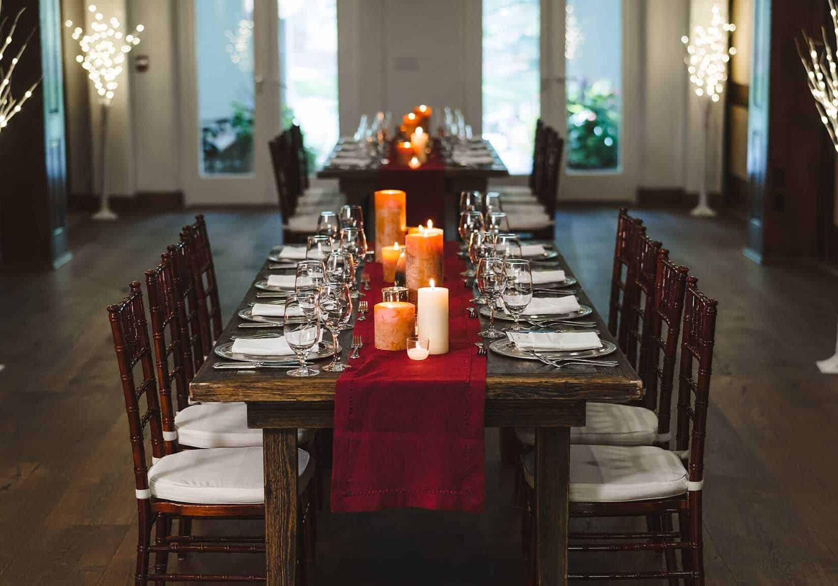 Allgau restaurant tables with placesettings